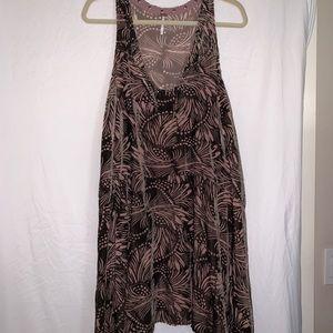 Freepeople velvet print dress